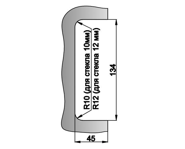 T-150K SSS Ответная часть замка на стеклянную панель