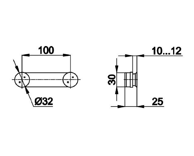 TB-820 SSS Коннектор стекло-стекло