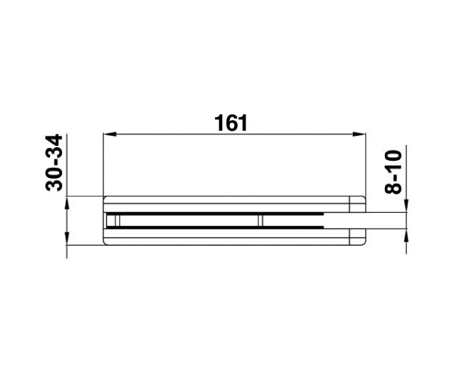 TI-75-2 TP Ответная часть на стекло для замка