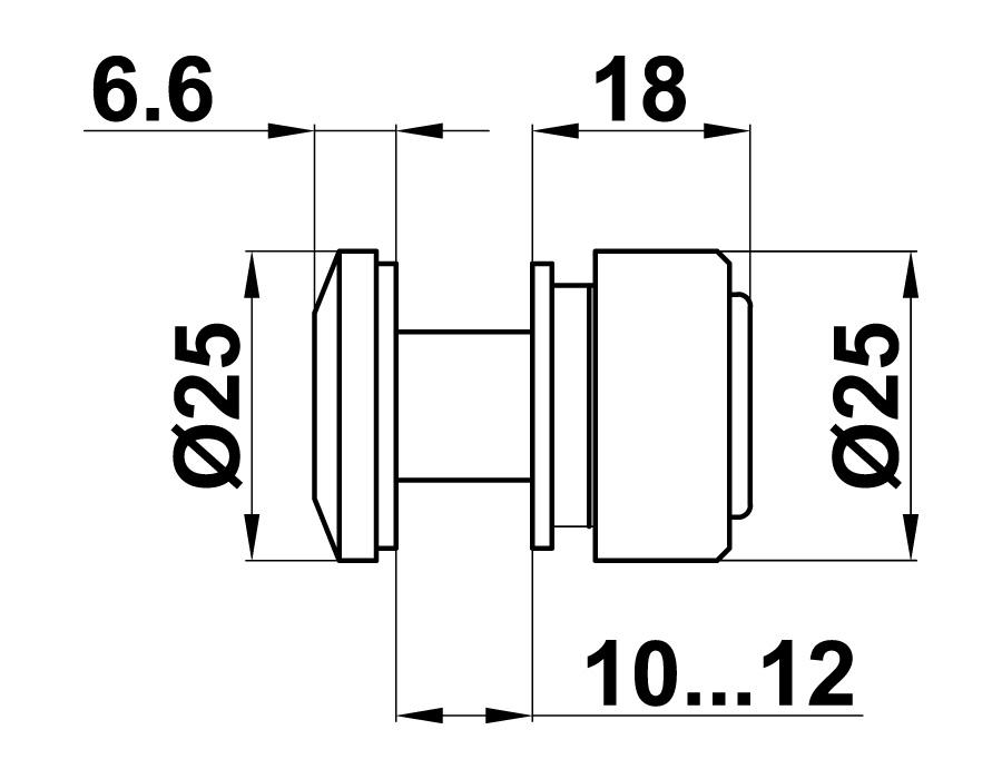 TB-795-2 SSS Ответная часть на стекло для напольного стопора
