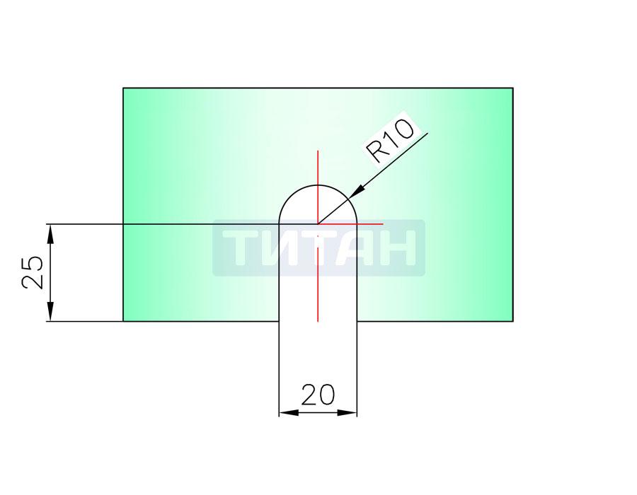 T-733S SC Коннектор стекло - стена