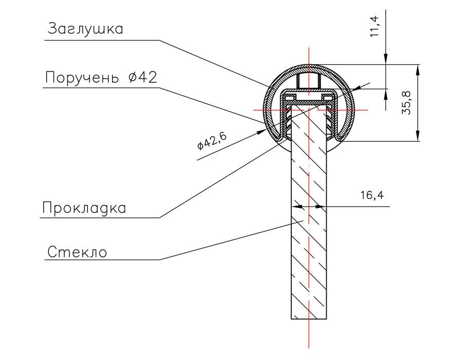 T-104А-1 SSS SUS 304 Заглушка (D42,4mm)