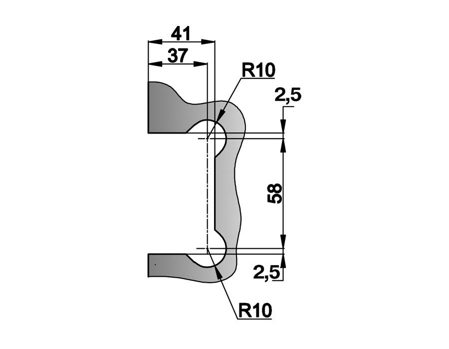 T-305 OBR Петля стена - стекло одностороннее крепл.