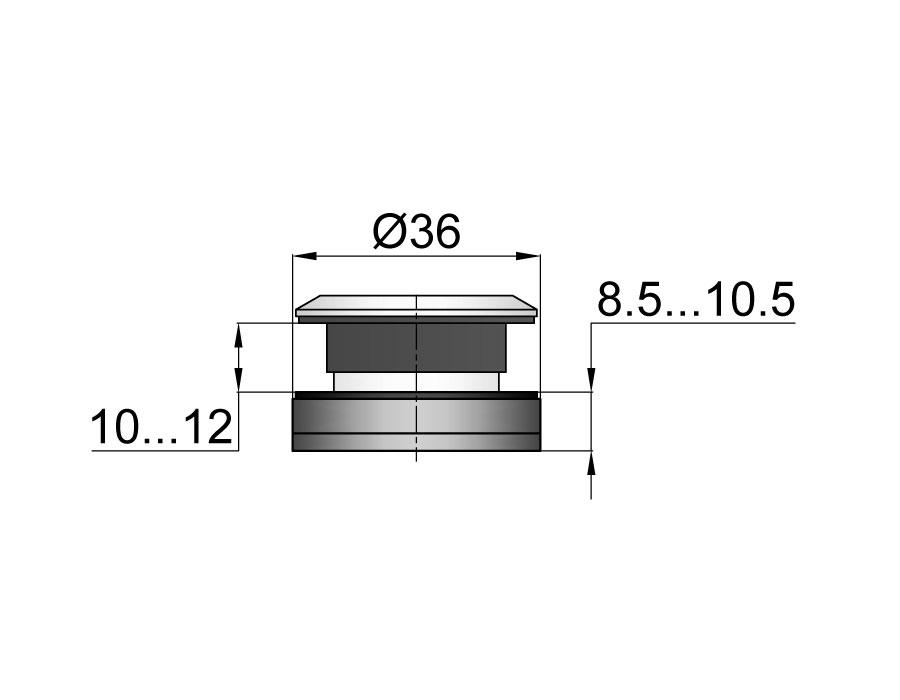 TT-502А SSS Точечное крепление регулируемое без зенковки 8,5-11mm