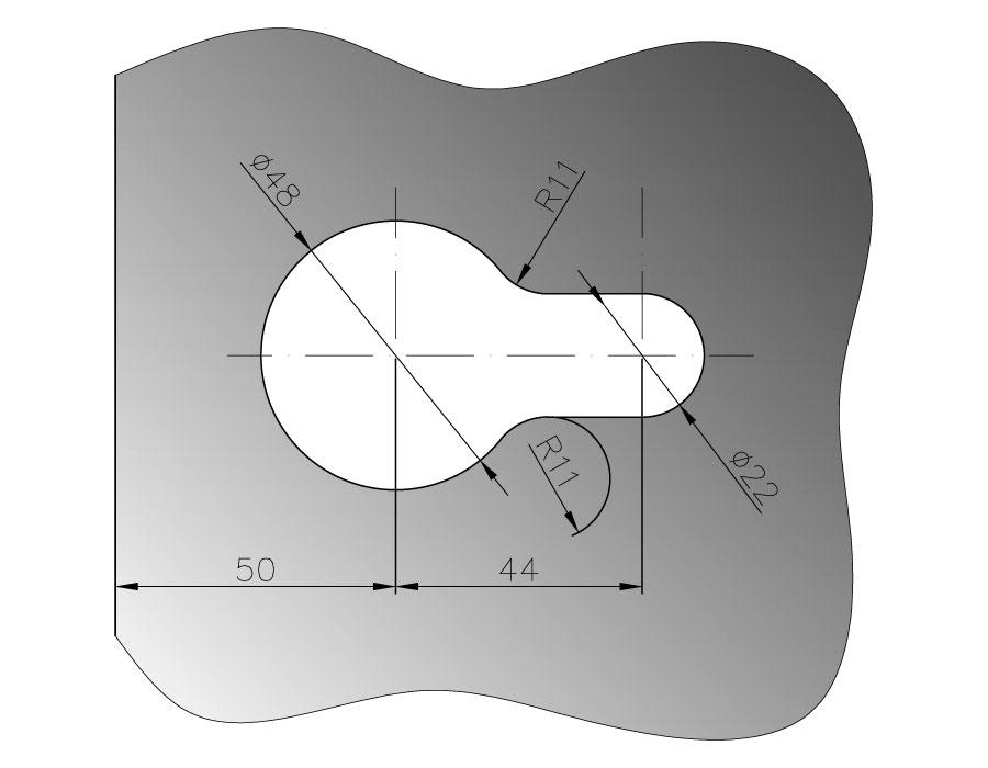 TI-860М WC AL (цвет Черный) Замок с защелкой WC  (Магнитный)