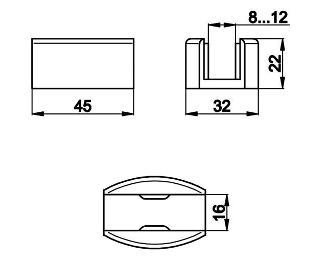 TB-834 PSS Направляющая двери