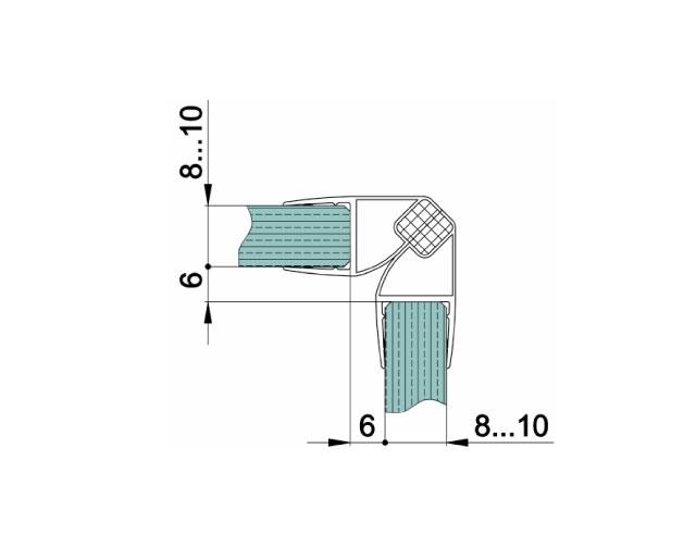 T-210 10mm L=2500mm Профиль магнитный