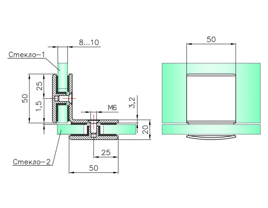 T-735S SC Коннектор стекло - стекло