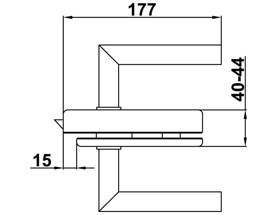 TI-85 BL SSS Замок с притвором (с ручкой). Без евроцилиндра