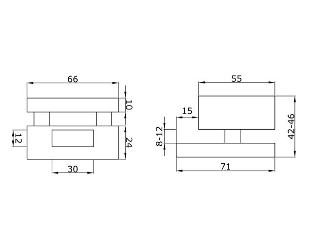 TI-85-2 SSS  Ответная часть на стекло