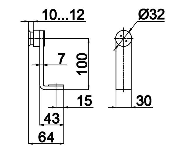 TB-821 SSS Коннектор стекло-стена