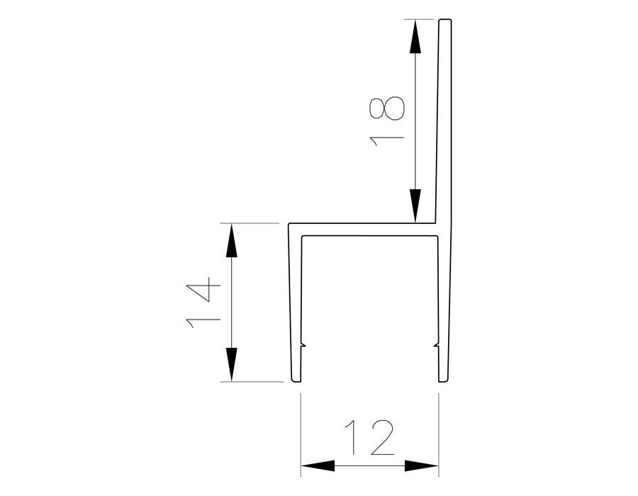 T-204 12mm L=2500mm Профиль