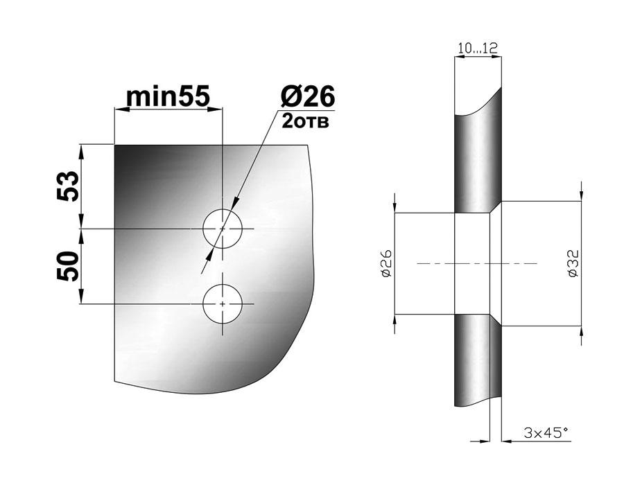 TB-815 SSS Каретка цилинрическая