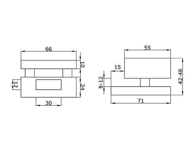 TI-86-2 PSS  Ответная часть на стекло