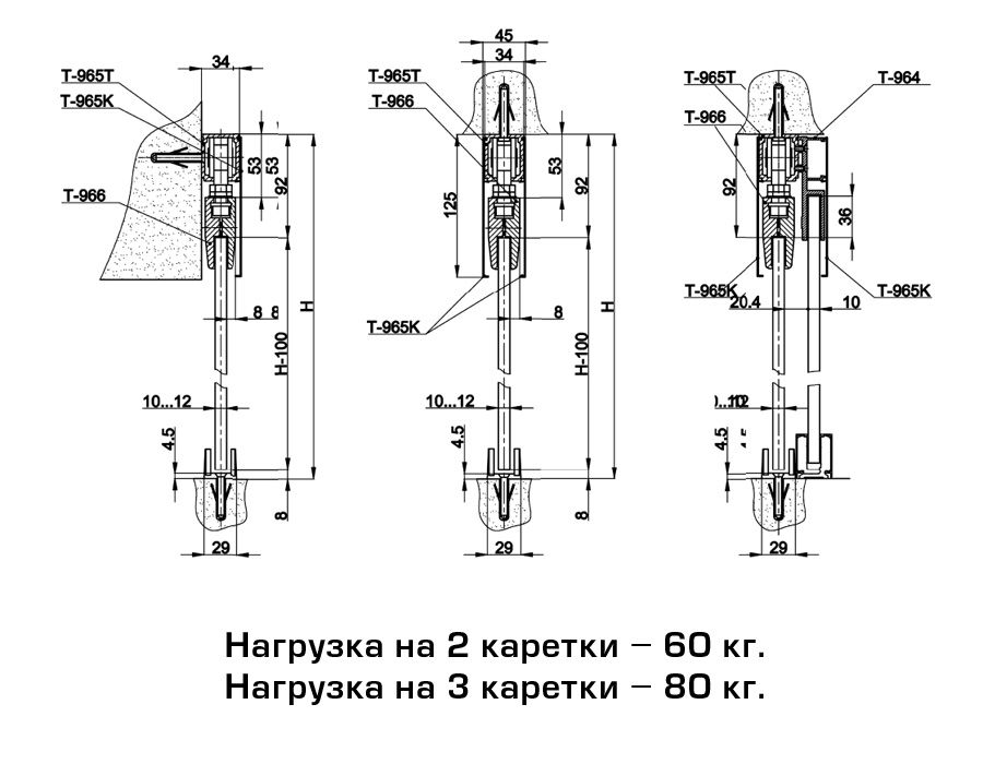 T-965T L=6000mm АL  рельс без анода