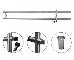 T-482-D1 35х1500 SSS Ручка с замком (ключ + защелка)