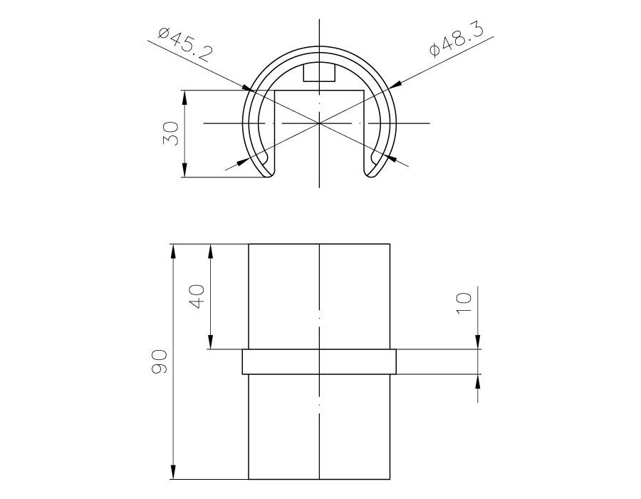 T-104-2 SSS Переход прямой 180 гр. (D48,3mm)