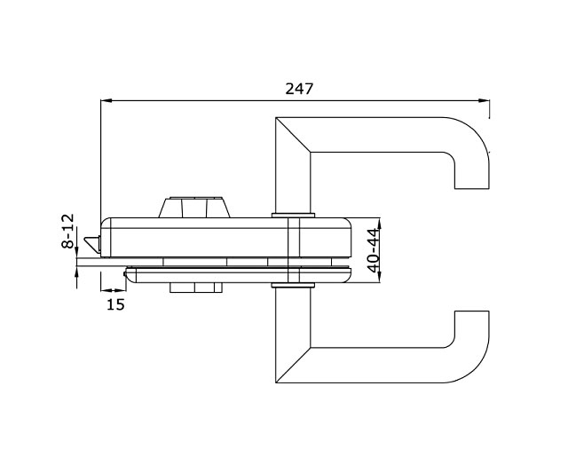 TI-86А SSS   Замок с притвором (с ручкой)