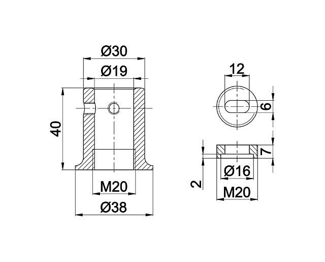 T-907 BLC Соединитель труба - стена