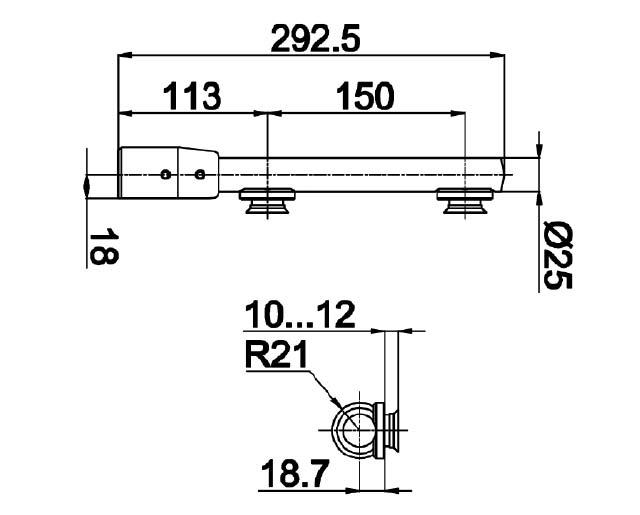 TB-710 SSS Петля нижняя под зенковку