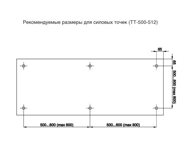 TT-505А SSS Точечное крепление регулируемое, без зенковки 14-18mm