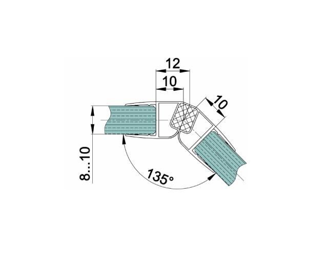 T-208 8mm L=2500mm Профиль магнитный