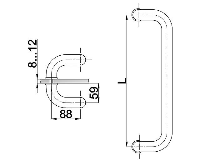 T-628 32x600 SSS Ручка комплект