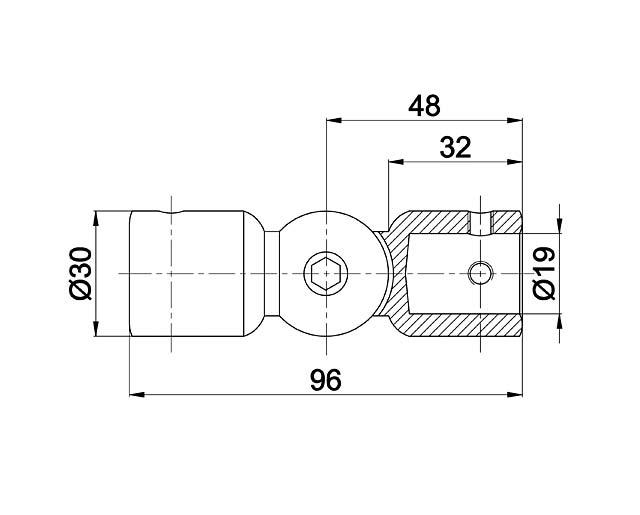 T-915 BLC Соединитель  труба  труба произвольный угол