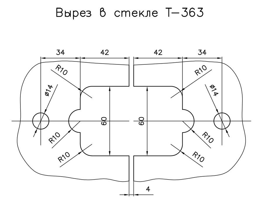 T-363 SSS Петля стекло - стекло угол поворота 180 гр.